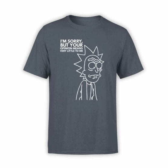 "Rick and Morty T-Shirt ""Sorry"". Mens Shirts."