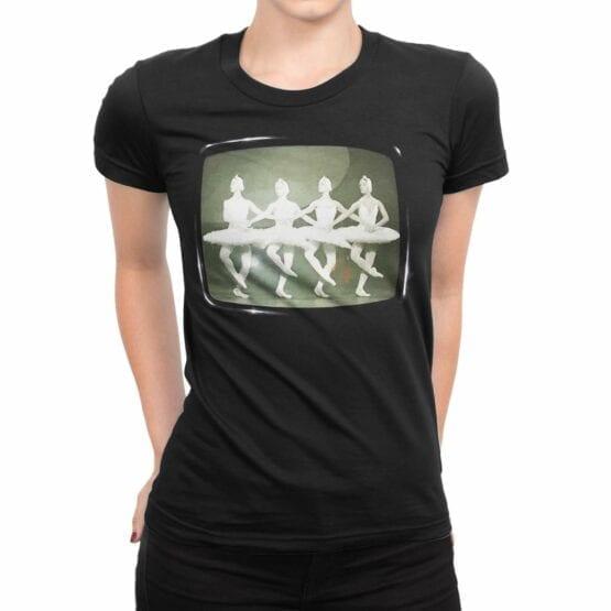 "Cool T-Shirts ""Swan Lake"". Womens Shirts."