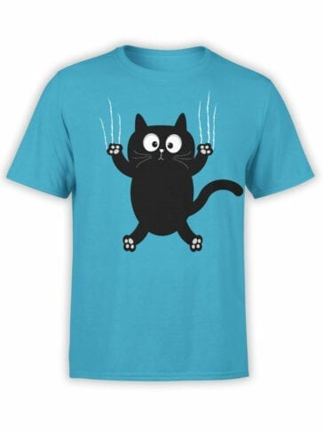 "Cat T-Shirts ""Cat On The Wall"" funny t-shirts"