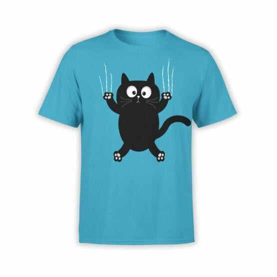 """Cat T-Shirts """"Cat On The Wall"""" funny t-shirts"""