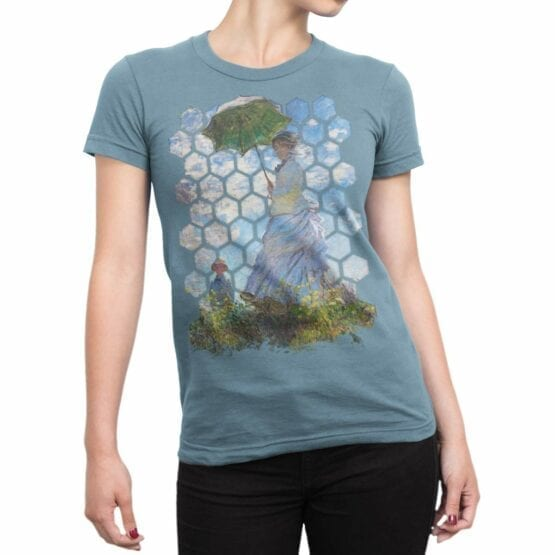 "Art T-Shirts ""Claude Monet. Madame Monet and Her Son"". Claude Monet T-Shirts."