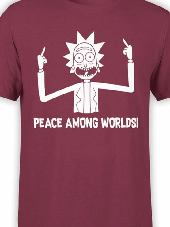 0167 Rick and Morty Rick Peace Front Color