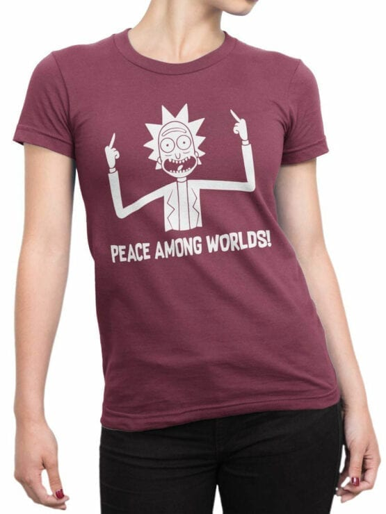 0167 Rick and Morty Rick Peace Front Woman