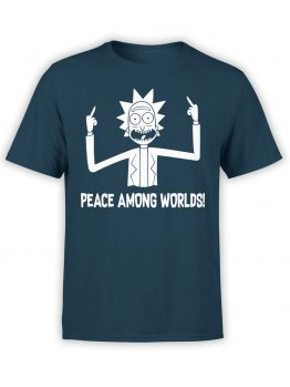 "Rick and Morty T-Shirt ""Peace"". Funny T-Shirts."