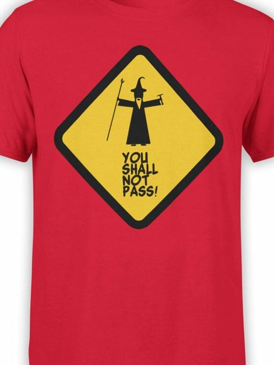 0170 Lord of the Rings T Shirt Not Pass Front Color