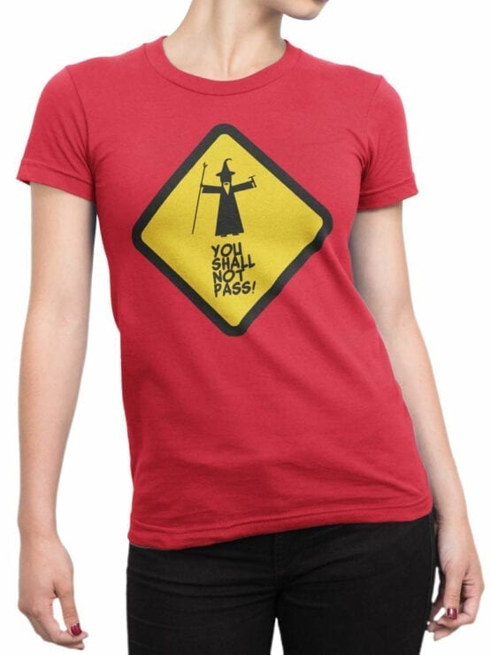 0170 Lord of the Rings T Shirt Not Pass Front Woman
