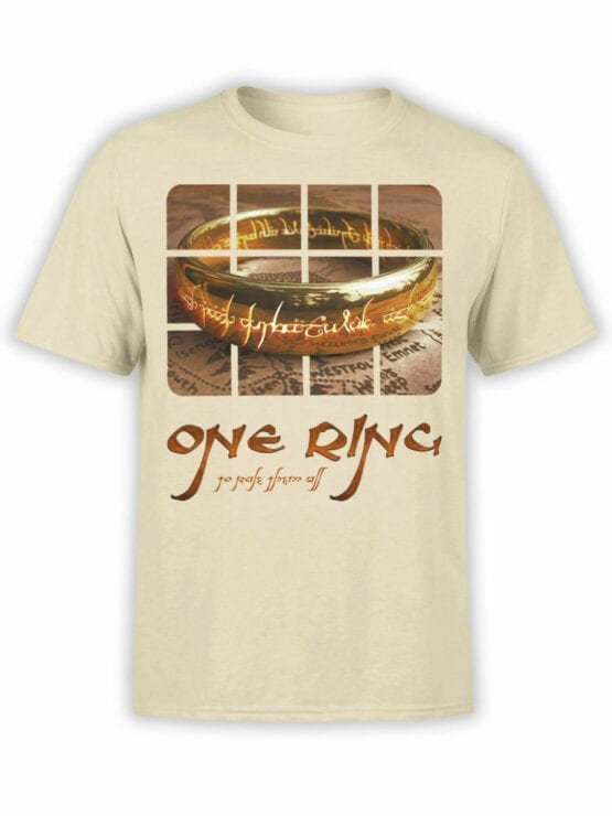 0171 Lord of the Rings T Shirt One Ring Front