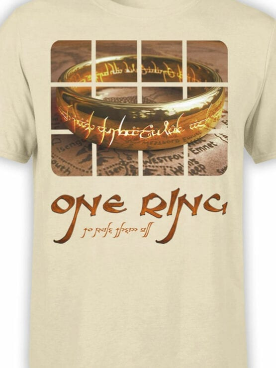 0171 Lord of the Rings T Shirt One Ring Front Color