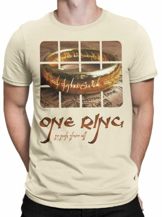 0171 Lord of the Rings T Shirt One Ring Front Man