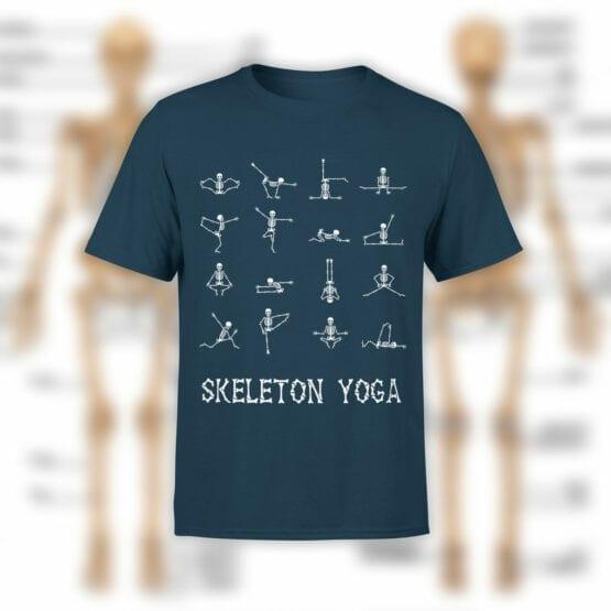 "Cool T-Shirts ""Sceleton Yoga"" Creative t-shirts"