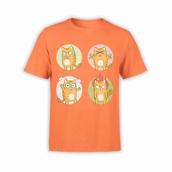 "Cat T-Shirts ""Emotional Cat"" Funny T-Shirts"