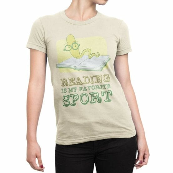 "Cool T-Shirts ""I Love Reading"". Funny T-Shirts."