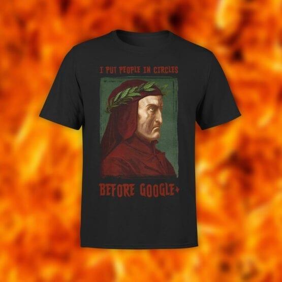 "Funny T-Shirts ""Dante Alighieri"". T-Shirts."