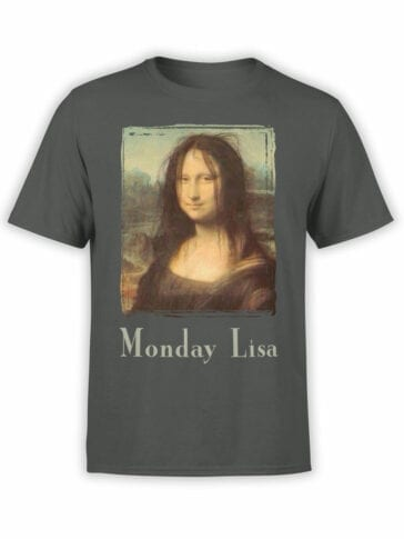 "Funny T-Shirts ""Monday Lisa"". Cool T-Shirts."