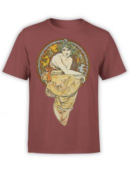 "Alphonse Mucha T-Shirt ""Clio 1900"". Art T-Shirts."