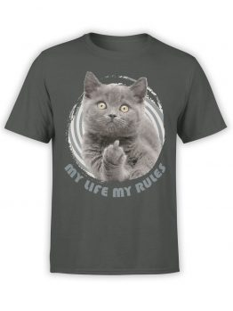 "Cat T-Shirts ""My Rules"" Funny T-Shirts"