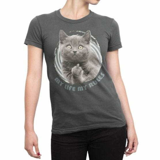"Cat T-Shirts ""My Rules"" Funny T-Shirts"