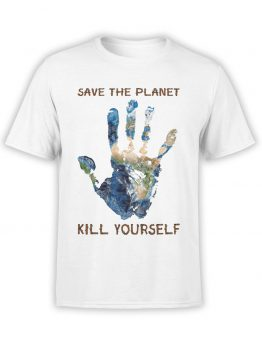 "Funny T-Shirts ""Save The Planet"". Cool T-Shirts."