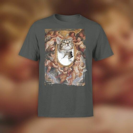 "Cat T-Shirts ""St. Kitty"" Funny T-Shirts"