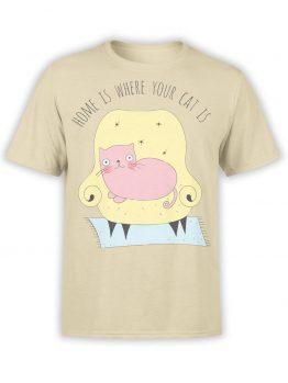 "Cat T-Shirts ""Home"" Funny T-Shirts"