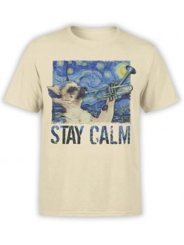 "Funny T-Shirts ""Calm"". Cool T-Shirts."