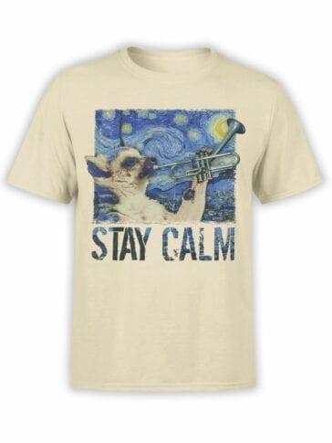 "Funny T-Shirts ""Calm"". Cool T-Shirts."