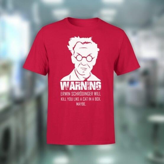 "Funny T-Shirts ""Erwin Schrodinger"". Cool T-Shirts."
