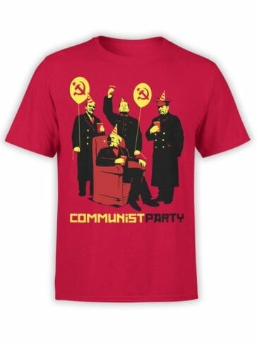 "Funny T-Shirts ""Communist Party"". Cool T-Shirts."