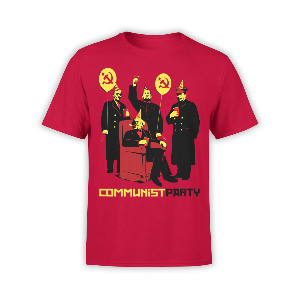 Funny t shirts communist party unisex t shirt 100 for Comic t shirts online
