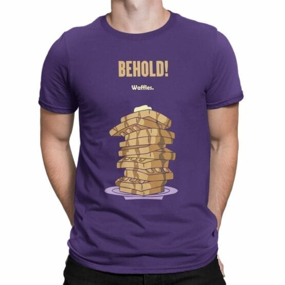"Funny T-Shirts ""Waffles"". Cool T-Shirts."