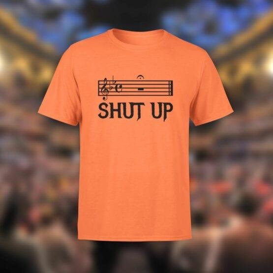 "Funny T-Shirts ""Shut Up"". Cool T-Shirts."