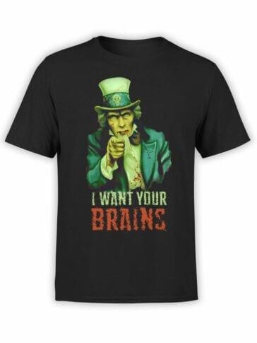 "Funny T-Shirts ""Brains"". Cool T-Shirts."