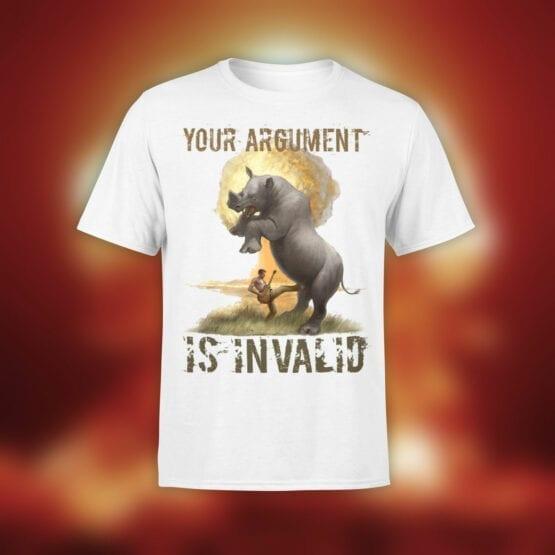 "Crazy T-Shirts ""Argument"". Funny T-Shirts."