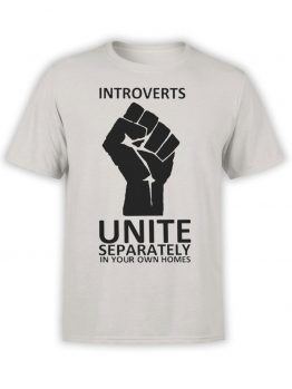 "Funny T-Shirts ""Introverts"". Cool T-Shirts."
