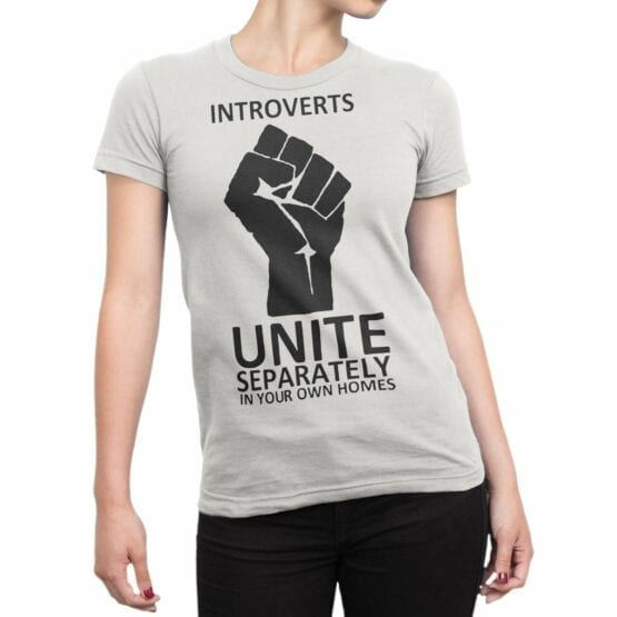 """Funny T-Shirts """"Introverts"""". Cool T-Shirts."""