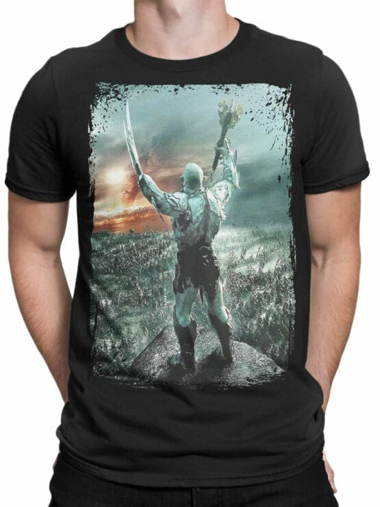 0303 Lord of the Rings T Shirt Azog Front Man