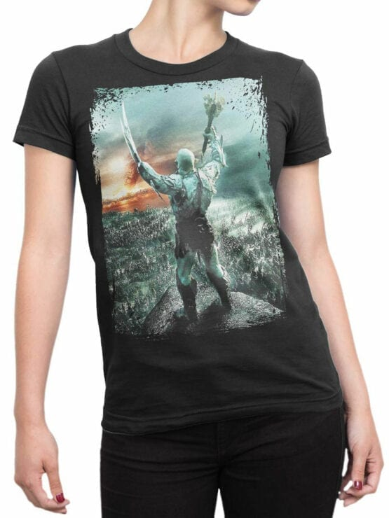 0303 Lord of the Rings T Shirt Azog Front Woman