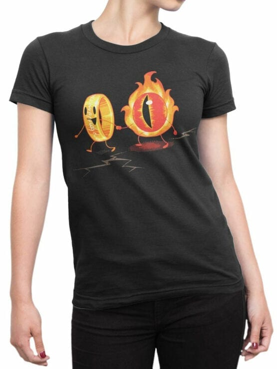 0316 Lord of the Rings T Shirt Friendship Front Woman