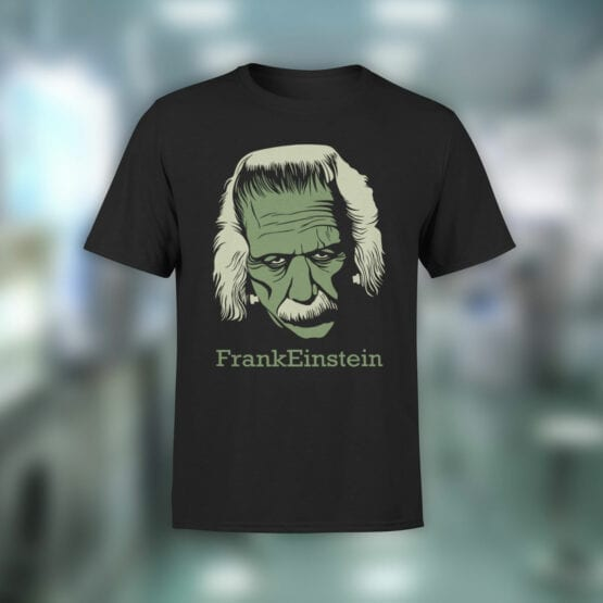 """Funny T-Shirts """"FrankEinstein"""". Cool T-Shirts."""