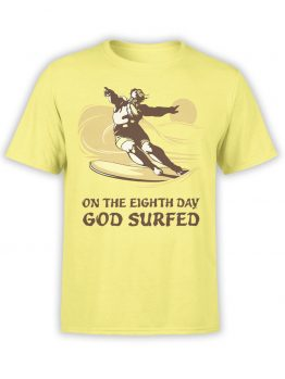 "Funny T-Shirts ""God Surfed"". Cool T-Shirts."