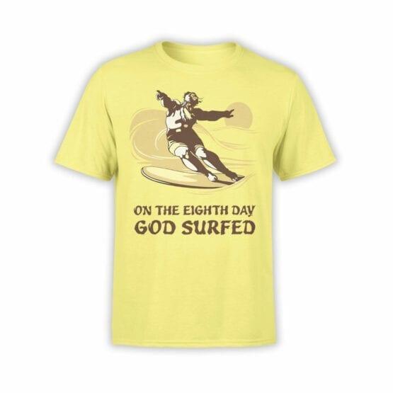 """Funny T-Shirts """"God Surfed"""". Cool T-Shirts."""