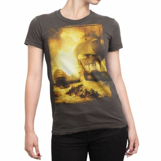 """Cool T-Shirts """"The Battle of the Nile"""" George Arnald"""