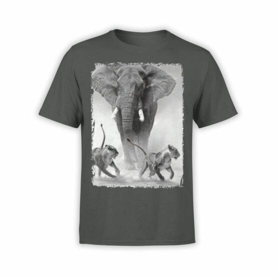 "Cool T-Shirts ""Elephant and Lions"""