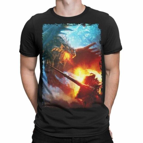 """Cool T-Shirts """"Dragon vs Knight"""""""