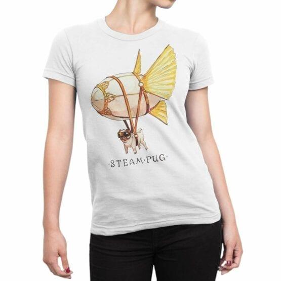 """Cool T-Shirts """"Steam Pug"""""""