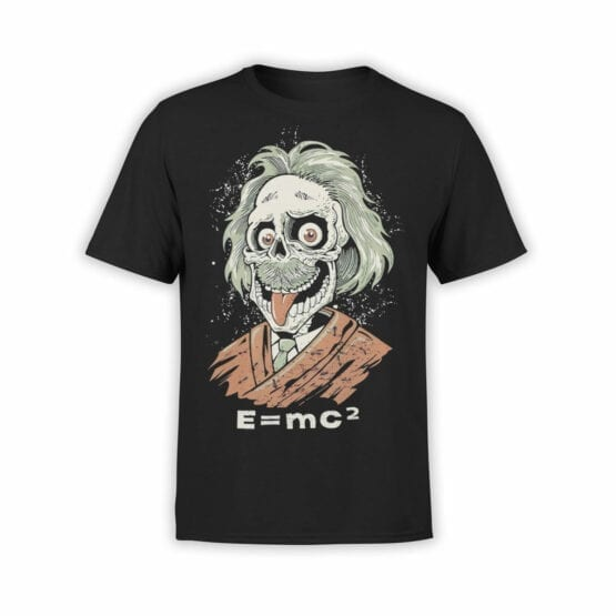 """Funny T-Shirts """"Zombie Einstein"""". Cool T-Shirts."""