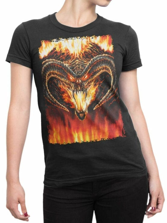0360 Lord of the Rings T Shirt Balrog Front Woman