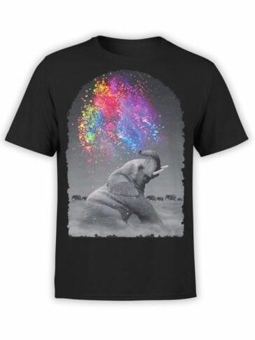 "Elephant Shirt ""Fountain"". Cool Shirts."