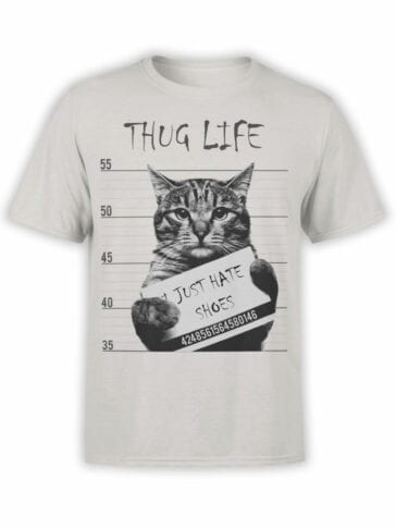 "Cat Shirts ""Thug Life""."