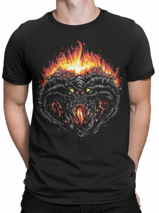 0391 Lord of the Rings T Shirt Balrog Front Man